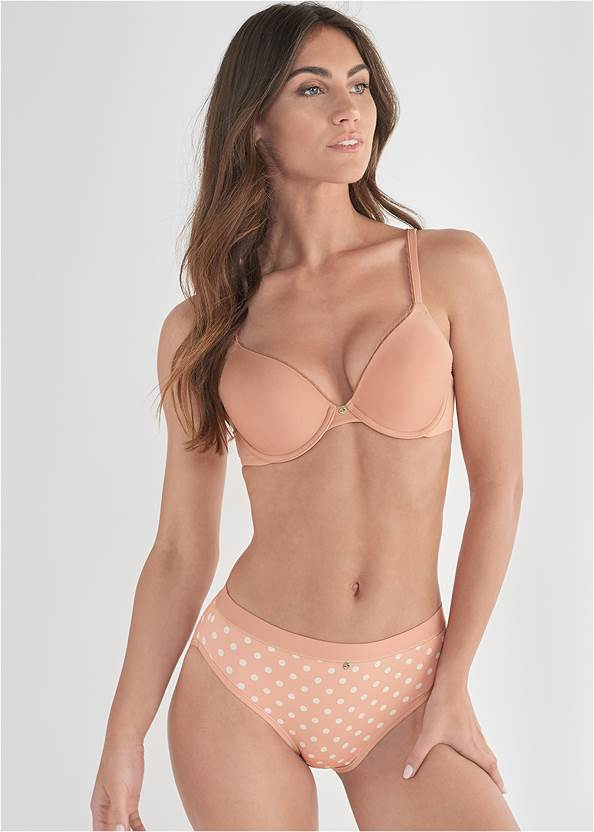 Cropped front view Pearl™ By Venus Retro High Leg Panty 3 Pack