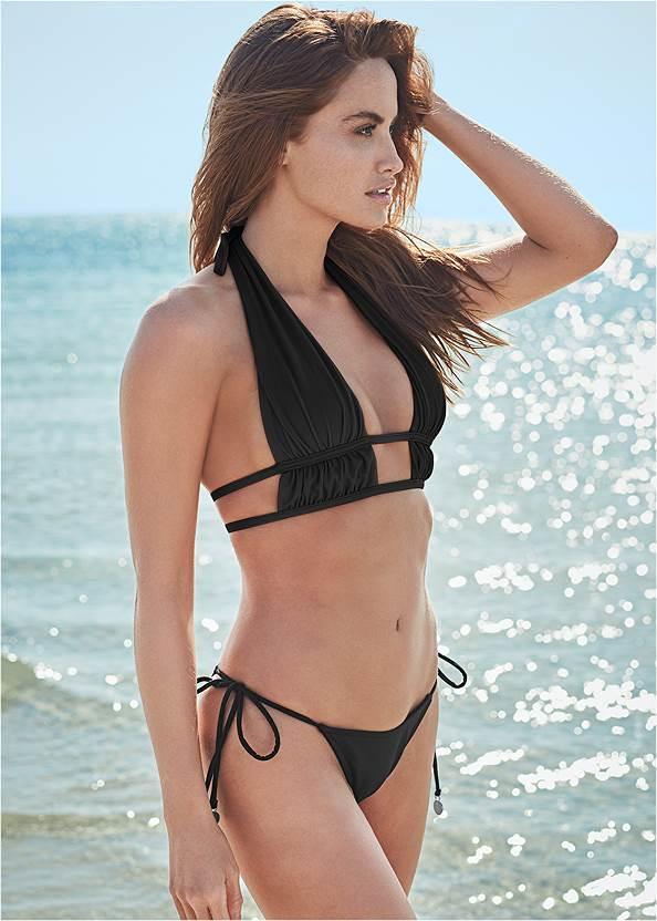 Sports Illustrated Swim™ Tie Side String Bottom,Sports Illustrated Swim™ Longline Triangle Top,Sports Illustrated Swim™ The Bahia Top,Sports Illustrated Swim™ Keep Up Grommet Top