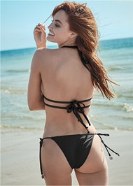 Full back view Sports Illustrated Swim™ Longline Triangle Top