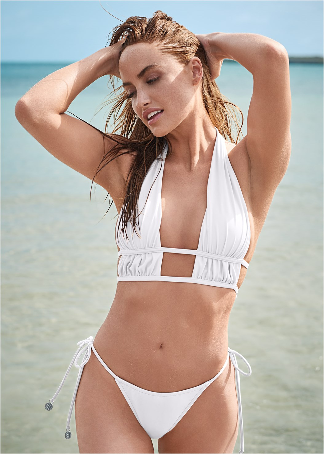 Sports Illustrated Swim™ Longline Triangle Top,Sports Illustrated Swim™ Tie Side String Bottom,Sports Illustrated Swim™ High Leg Ruched Bottom,Sports Illustrated Swim™ Low Rise Brief Bottom,Sports Illustrated Swim™ Brazilian Crisscross Bottom,Sports Illustrated Swim™ Color Block String Bottom