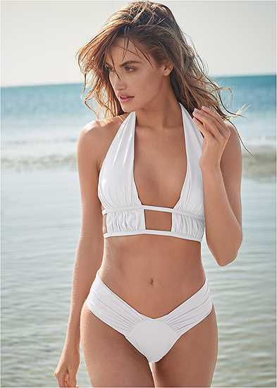 Plus Size Sports Illustrated Swim™ Longline Triangle Top