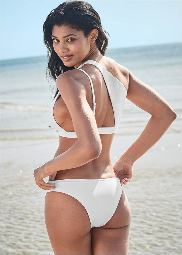 Back View Sports Illustrated Swim™ One Shoulder Triangle Top