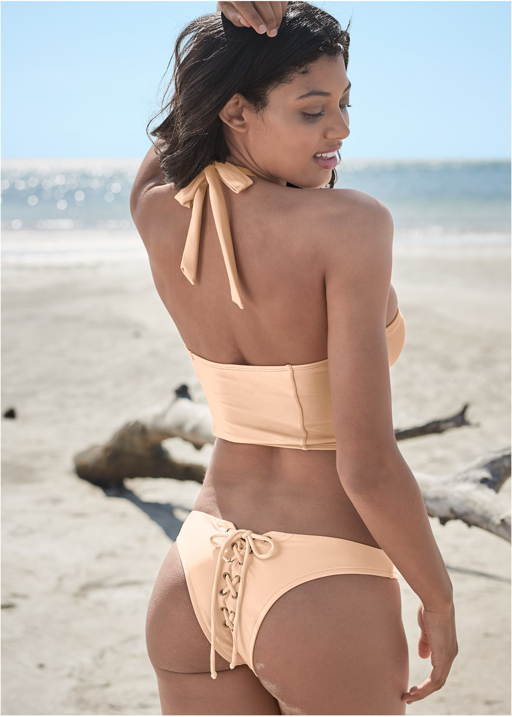 Sports Illustrated Swim™ Lace Up Back Cheeky Bottom,Sports Illustrated Swim™ Keep Up Grommet Top,Sports Illustrated Swim™ The Bahia Top