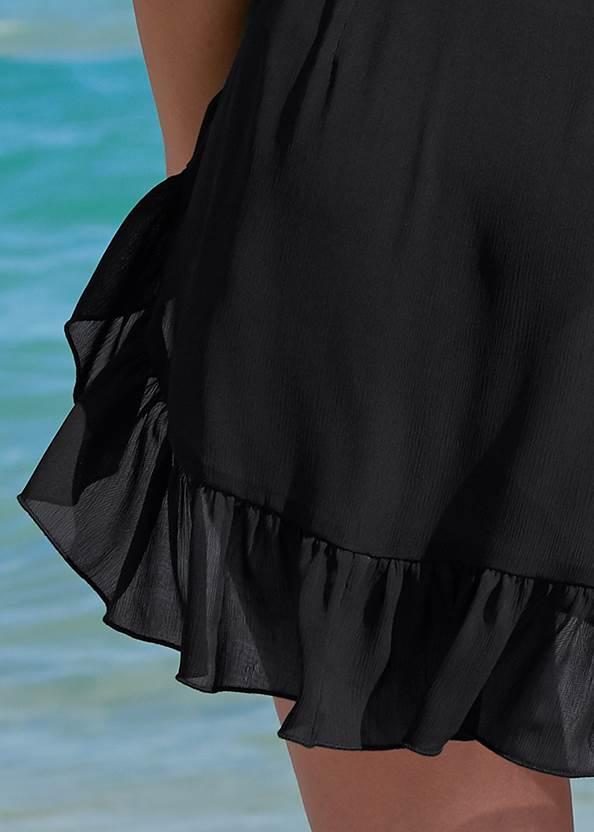 Detail back view Ruffle Trim Wrap Skirt