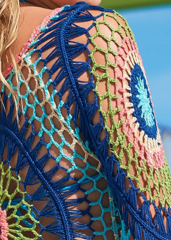 Detail back view Crochet Detail Coverup