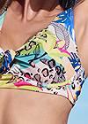 Detail front view Underwire Retro Bikini Top