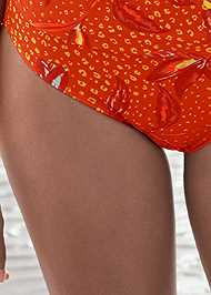 Detail front view Mid Rise Hipster Classic Bikini Bottom