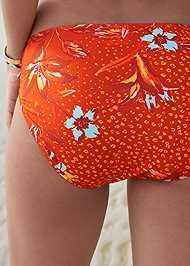 Detail back view Mid Rise Hipster Classic Bikini Bottom