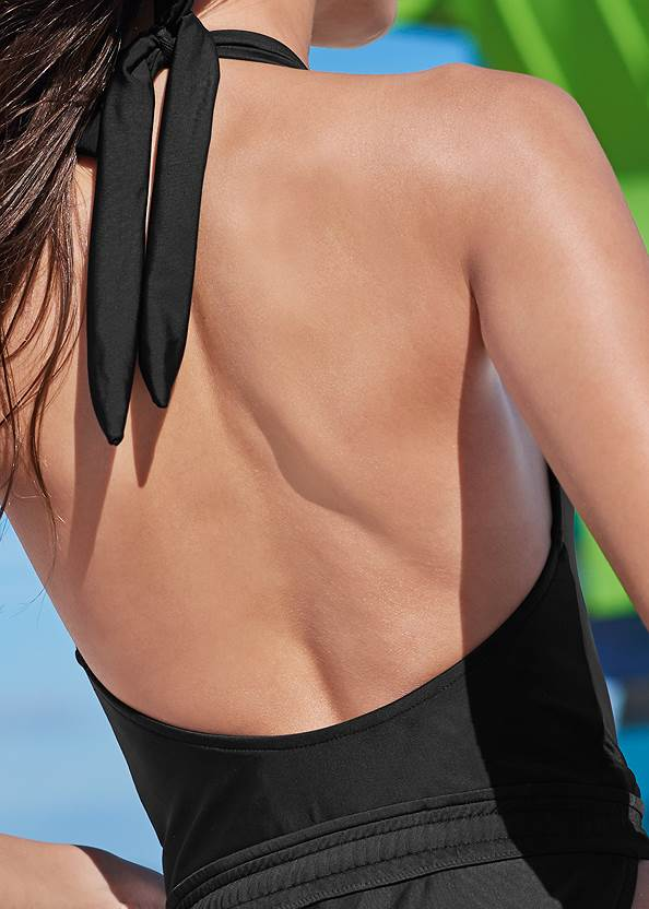 Detail back view Sporty Waistband One-Piece