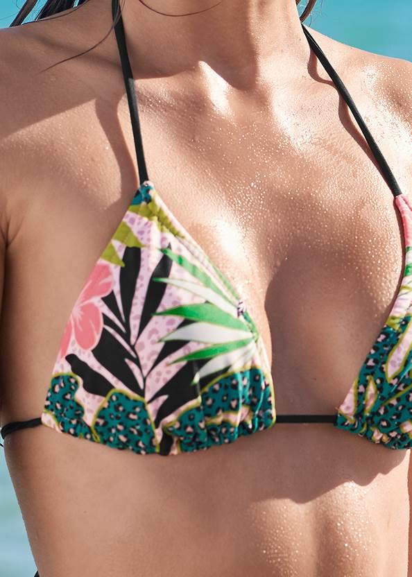 Detail front view Triangle String Bikini Top