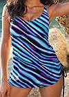 Detail front view Adjustable Long Tankini Top