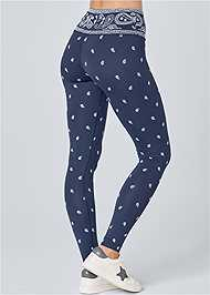 Waist down back view High Waisted Active Legging