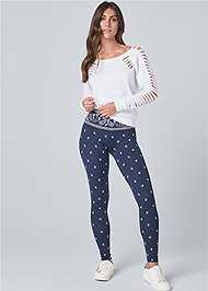 Front View High Waisted Active Legging