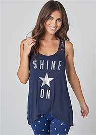 Front View Shine On Lounge Tank