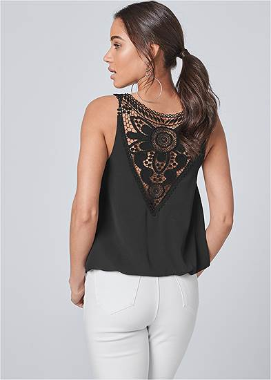 Crochet Lace Back Top