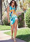 Front view Ribbed Tie Dye Tunic Top