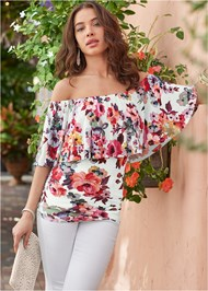 Alternate view Ruched Off The Shoulder Top