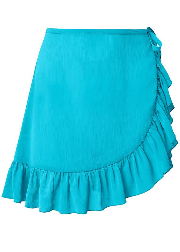 Ghost with background  view Ruffle Trim Wrap Skirt