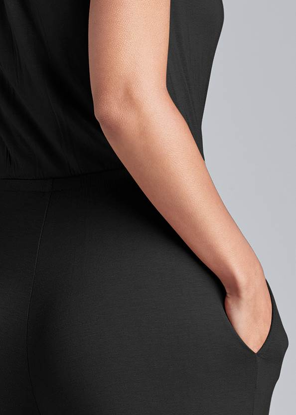 Alternate View Wide Leg Surplice Jumpsuit