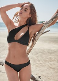 Front View Sports Illustrated Swim™ One Shoulder Triangle Top