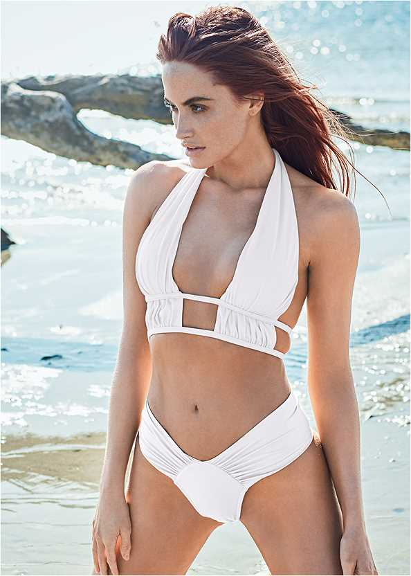 Sports Illustrated Swim™ Longline Triangle Top,Sports Illustrated Swim™ High Leg Ruched Bottom,Sports Illustrated Swim™ Tie Side String Bottom,Sports Illustrated Swim™ Low Rise Brief Bottom,Sports Illustrated Swim™ Brazilian Crisscross Bottom,Sports Illustrated Swim™ Color Block String Bottom