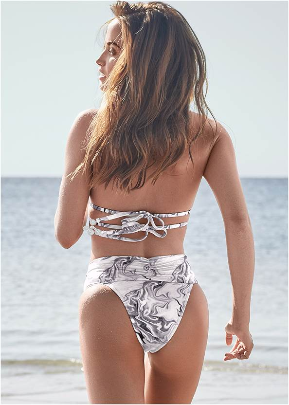 Back View Sports Illustrated Swim™ Longline Triangle Top