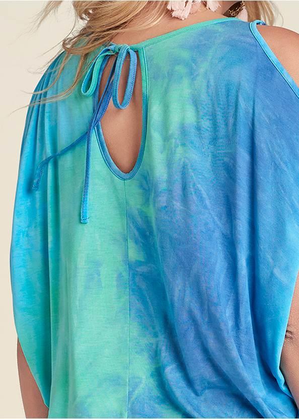 Alternate View Tie Dye Cold Shoulder Top
