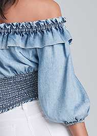 Alternate View Off Shoulder Chambray Top