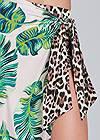 Alternate View Palm Leopard Print Skirt