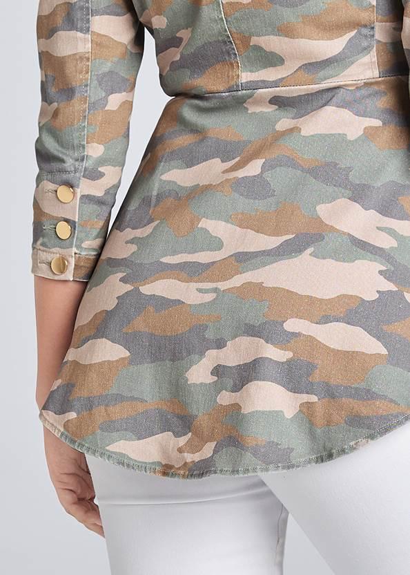 Alternate View Camo Print High Low Jacket