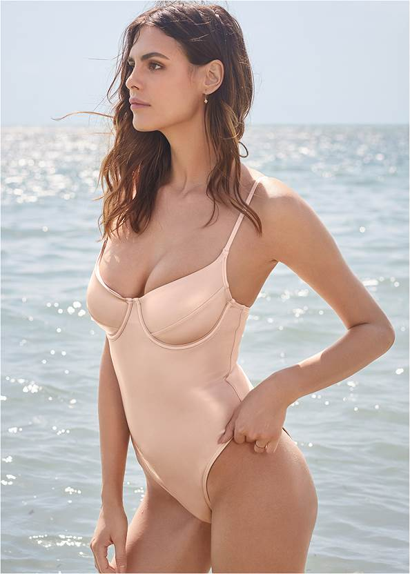 Cropped front view Sports Illustrated Swim™ Unlined Underwire One-Piece