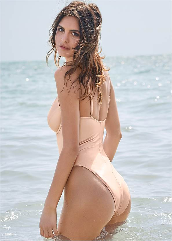 Cropped back view Sports Illustrated Swim™ Unlined Underwire One-Piece