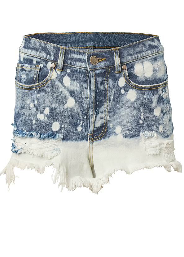 Ghost with background  view Bleached Jean Shorts