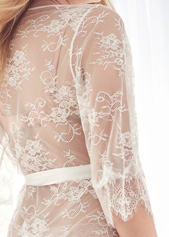 Alternate View Sheer Lace Maxi Robe