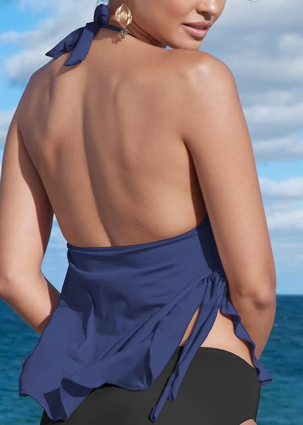 Alternate View Ruffle Petal Hem Tankini Top