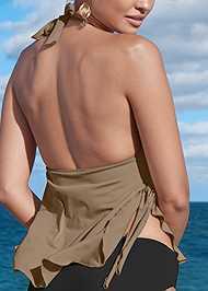 Alternate View Ruffle Petal Hem Tankini