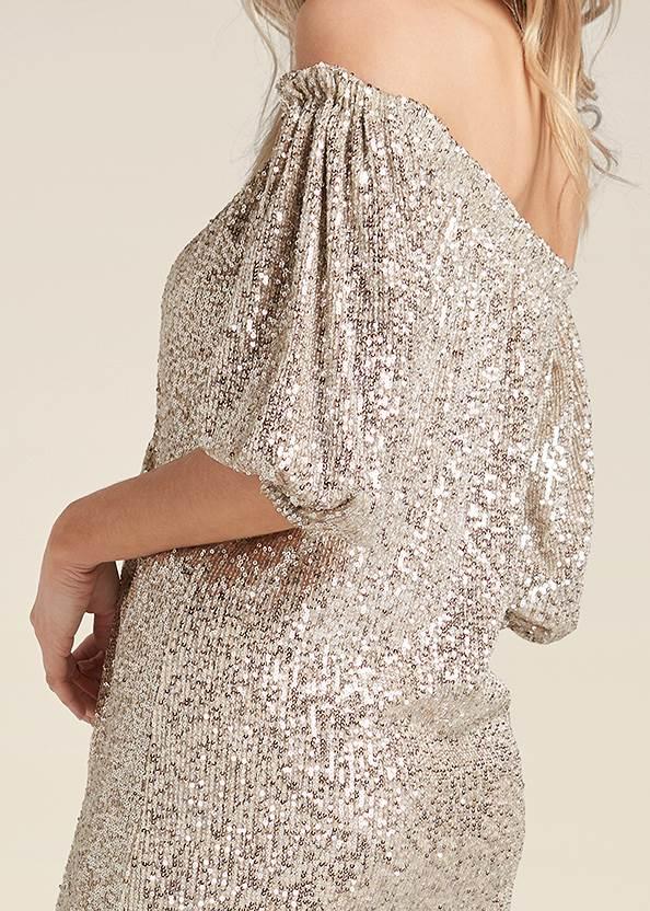 Alternate View Sequin Off-The-Shoulder Dress