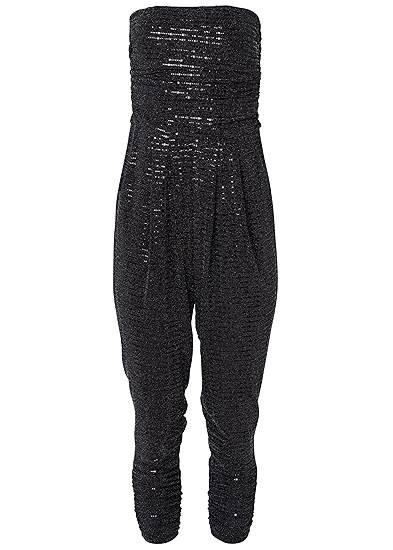 Plus Size Ruched Sequin Jumpsuit