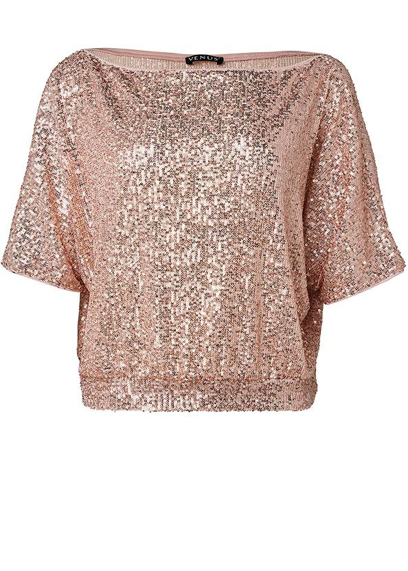 Ghost with background  view Off-The-Shoulder Sequin Top