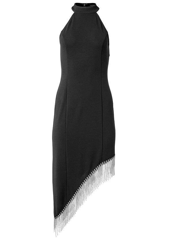 Ghost with background  view Asymmetrical Fringe Dress