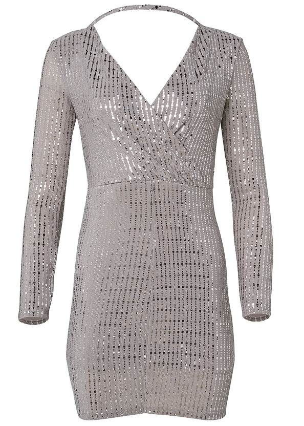 Ghost with background  view Open Back Shimmer Dress