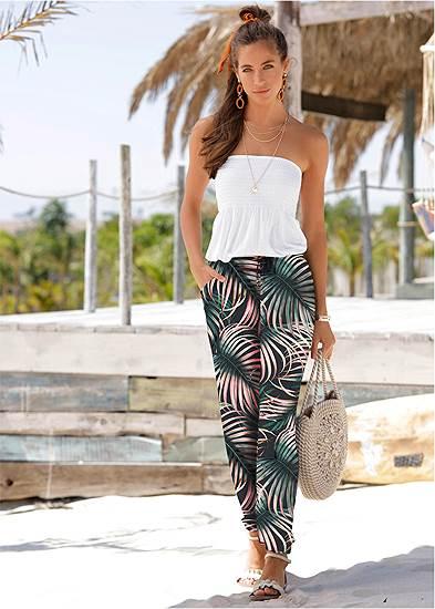 Palm Printed Pants