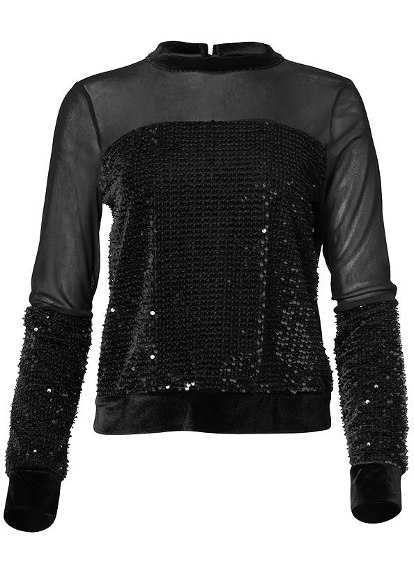 Ghost with background  view Velvet Sequin Top