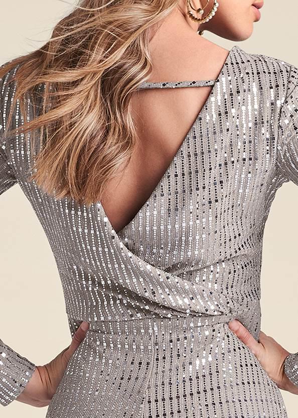 Alternate View Open Back Shimmer Dress