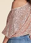 Alternate View Off-The-Shoulder Sequin Top