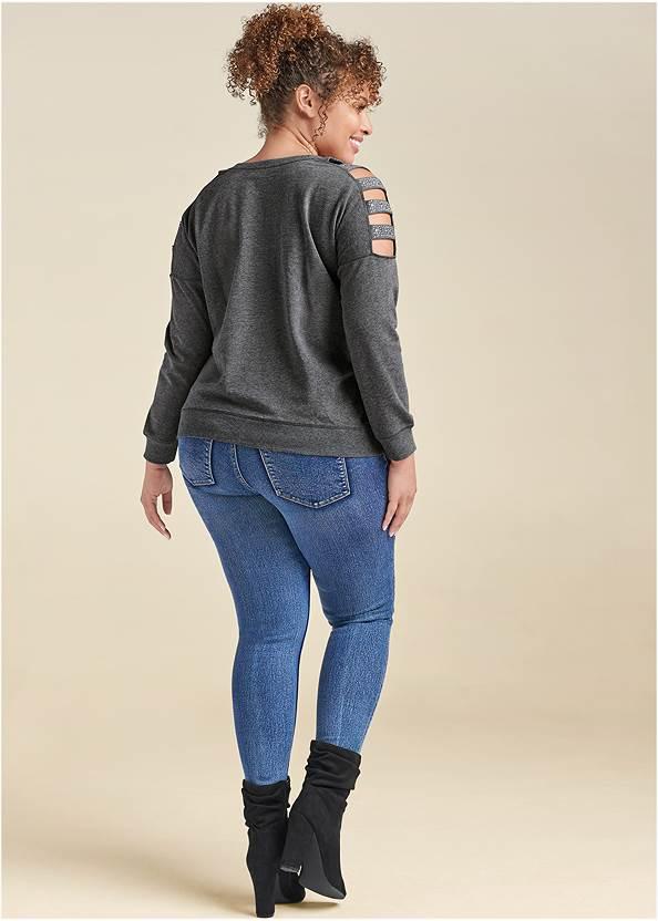 Back View Stud Embellished Sweatshirt