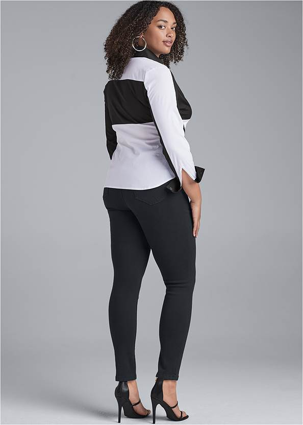 Back View Color Block Top