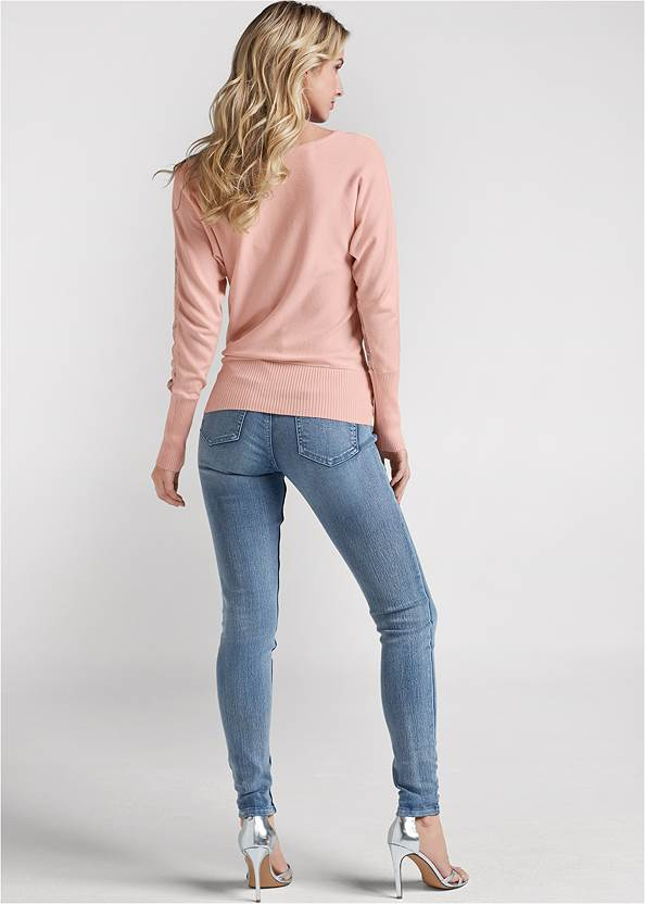 Cropped  view Floral Detail Sweater