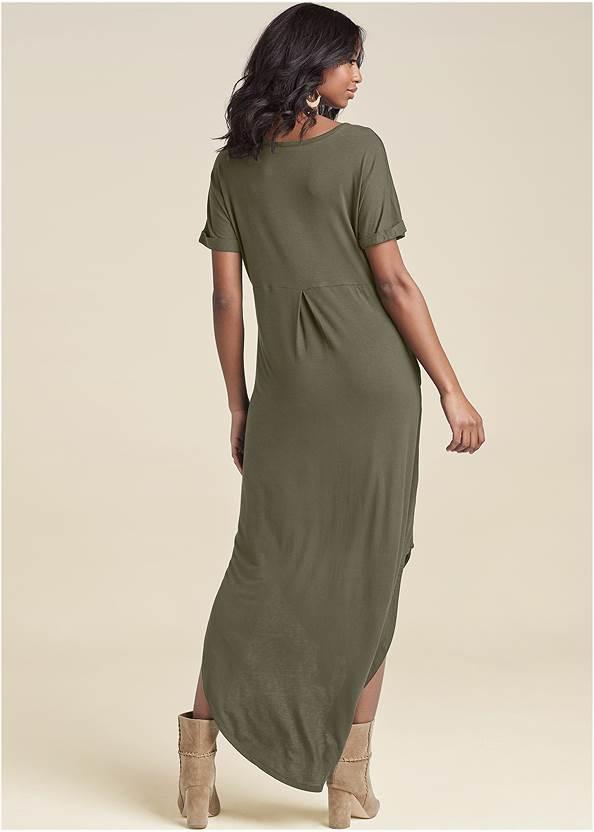 Back View Casual T-Shirt Maxi Dress