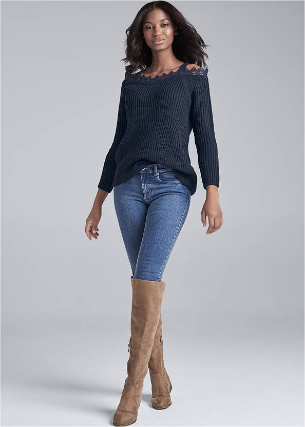 Alternate View Cold-Shoulder Sweater